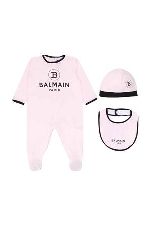 Pink and black baby kit balmain kids BALMAIN KIDS | 75988878 | 6M0850MB370506NE