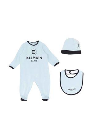 Light blue and black baby kit Balmain kids BALMAIN KIDS | 75988878 | 6M0850MB370605NE