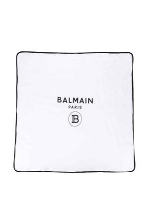 White and black squared blanket Balmain kids BALMAIN KIDS | 69164127 | 6M0870MB370100NE