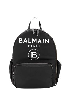 Balmain Kids black backpack BALMAIN KIDS   75988882   6M0918ME360930