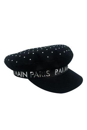Cappello con applicazioni , visiera e logo Balmain kids BALMAIN KIDS   75988881   6M0947MX560930