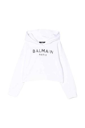Felpa bianca Balmain kids teen BALMAIN KIDS   -108764232   6M4010MX270100T