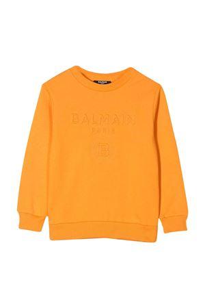 Orange teen sweatshirt Balmain kids BALMAIN KIDS | -108764232 | 6M4740MX020402T