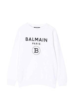 White sweatshirt Balmain kids  BALMAIN KIDS | -108764232 | 6M4760MX270100