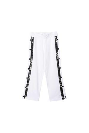 Balmain kids white sport trousers  BALMAIN KIDS | 9 | 6M6527MA010100NE