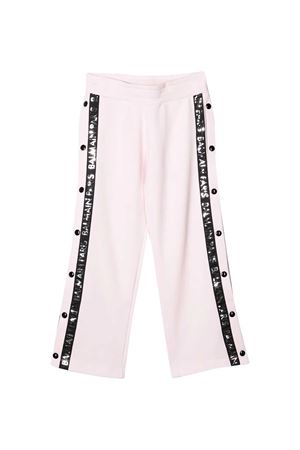 White trousers with black side band with logo Balmain kids BALMAIN KIDS | 9 | 6M6527MA010502NE