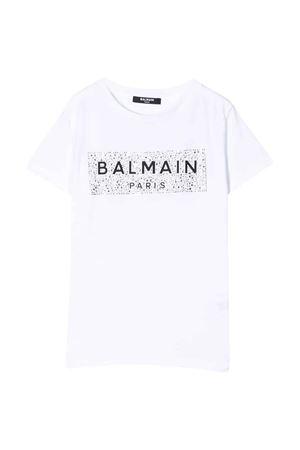 T-shirt bianca Balmain kids teen BALMAIN KIDS   8   6M8001MA030100T