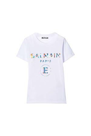 White t-shirt Balmain kids teen  BALMAIN KIDS | 5032319 | 6M8021MX030100MCT