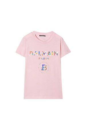 Pink t-shirt Balmain kids teen  BALMAIN KIDS | 5032319 | 6M8021MX030502MCT