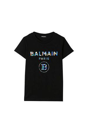 Black t-shirt Balmain kids  BALMAIN KIDS | 5032319 | 6M8021MX030930MC