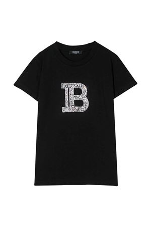 T-shirt nera Balmain kids teen BALMAIN KIDS   8   6M8031MX030930T