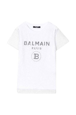 T-shirt bianca Balmain kids BALMAIN KIDS   8   6M8061MA030100