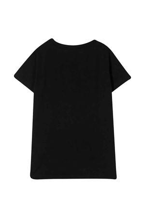 T-shirt nera con paillettes Balmain kids BALMAIN KIDS | 8 | 6M8071MA030930