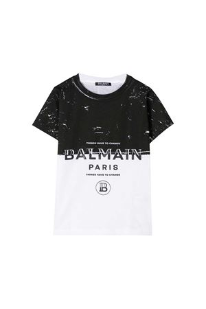 Two-color t-shirt Balmain kids teen  BALMAIN KIDS | 5032319 | 6M8501MA030100NET