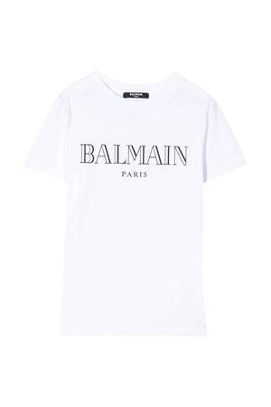 T-shirt bianca Balmain kids teen BALMAIN KIDS   8   6M8721MX030100T