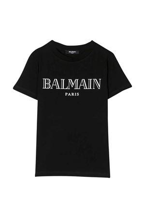 T-shirt nera Balmain kids teen BALMAIN KIDS   8   6M8721MX030930T