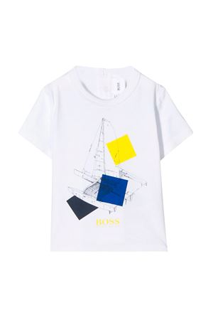 White t-shirt with press Boss Kids BOSS KIDS | 8 | J0576010B