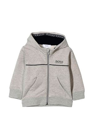 Grey sweatshirt with hood Boss Kids BOSS KIDS | -108764232 | J05P04A33