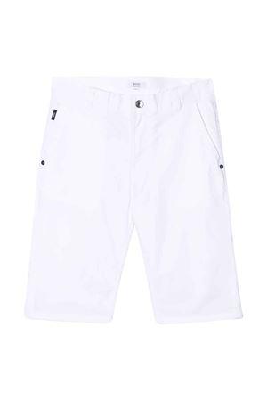 White teen bermuda shorts Boss kids BOSS KIDS | 5 | J2462910BT