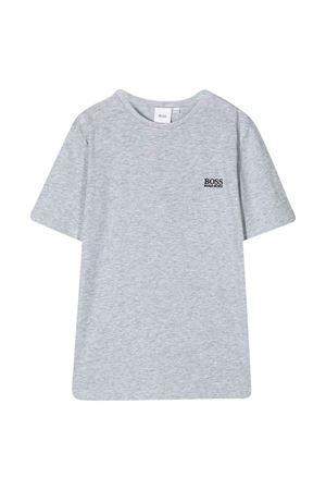 Grey t-shirt with logo Boss kids BOSS KIDS | 8 | J25E62A32