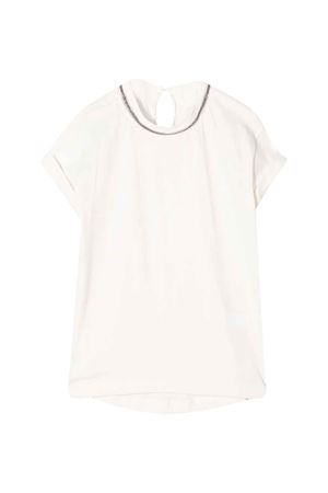 Brunello Cucinelli kids white t-shirt  Brunello Cucinelli Kids | 8 | B0045T031C7492