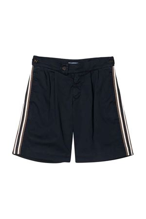 Blue bermuda shorts with side stripes Brunello Cucinelli kids Brunello Cucinelli Kids | 5 | B289LP905C2517