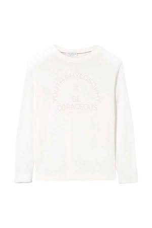 Maglione bianco teen con logo Brunello Cucinelli kids Brunello Cucinelli Kids | 7 | B29M13100CC503T