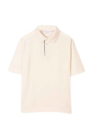 Brunello Cucinelli kids teen ivory polo shirt  Brunello Cucinelli Kids | 2 | B29M84005C9248T