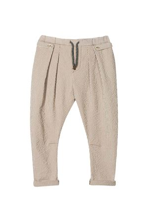 Beige striped trousers Brunello Cucinelli kids  Brunello Cucinelli Kids | 9 | BD487P101C290