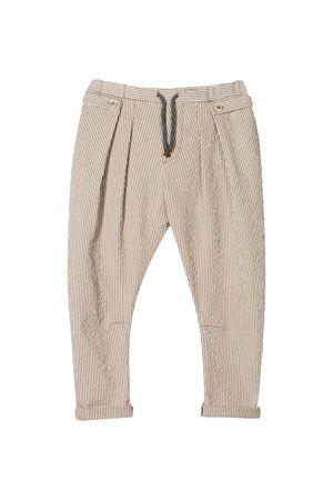 Beige striped trousers Brunello Cucinelli kids teen Brunello Cucinelli Kids | 9 | BD487P101C290T