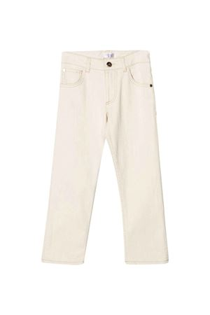 Beige straight-cut trousers Brunello Cucinelli kids Brunello Cucinelli Kids | 9 | BH119P405C006