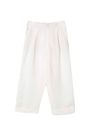 Pantalone bianco teen Brunello Cucinelli Kids Brunello Cucinelli Kids   9   BH126P014C600T