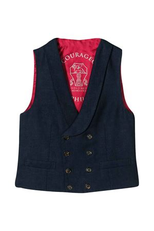 Blue V-neck vest Brunello Cucinelli kids Brunello Cucinelli Kids | 38 | BH422K901CR966