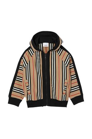 Check sweatshirt with hood and zip Burberry kids BURBERRY KIDS | 5032280 | 8022055A7029