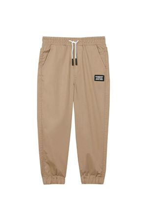 Light brown trousers with application Burberry kids BURBERRY KIDS | 9 | 8022070A1366
