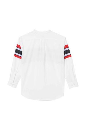 Camicia bianca con stampa e logo Burberry kids BURBERRY KIDS | 5032334 | 8022075A1464