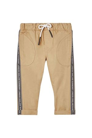 Light brown baby trousers with logo bands Burberry kids BURBERRY KIDS | 9 | 8022100A1366