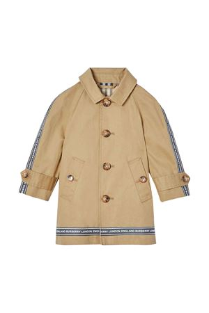 Light brown trench with logo details Burberry kids BURBERRY KIDS | 1463385353 | 8022103A1366