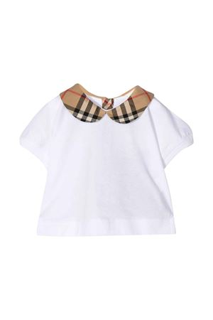 White blouse with vintage check neck Burberry kids BURBERRY KIDS | 194462352 | 8022116A1464