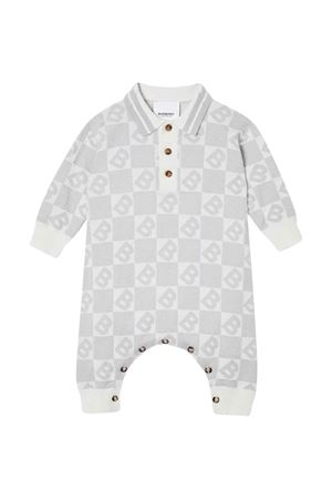 Grey romper with press Burberry kids BURBERRY KIDS | 1491434083 | 8022133A1362
