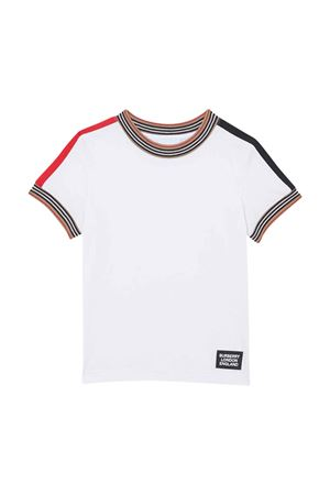 White t-shirt with check details Burberry kids BURBERRY KIDS | 8 | 8022251A1464