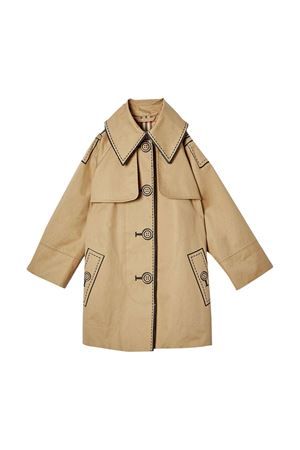 Trench beige con stampa nera Burberry kids BURBERRY KIDS | 1463385353 | 8022301A1366