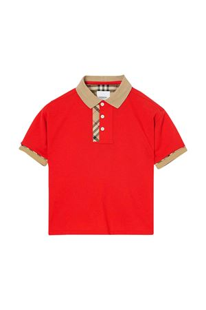 Red polo shirt Burberry kids teen  BURBERRY KIDS | 2 | 8022619A1460T