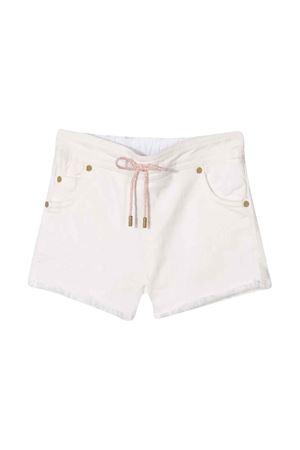 Shorts bianchi con vita con coulisse Chloé kids CHLOÉ KIDS | 30 | C04159117