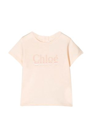 Pink t-shirt with logo Chloè kids CHLOÉ KIDS | 8 | C0532944B