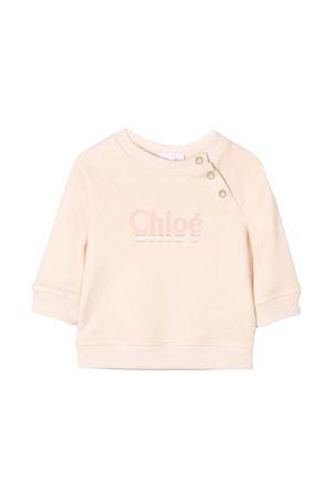 Maglia rosa con bottoni e logo frontale Chloè kids CHLOÉ KIDS | -108764232 | C0533244B