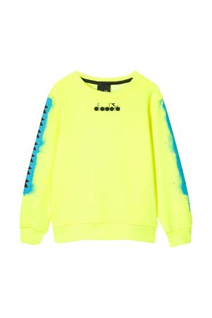 Yellow fluo sweatshirt with rear press Diadora junior DIADORA JUNIOR | -108764232 | 022293023