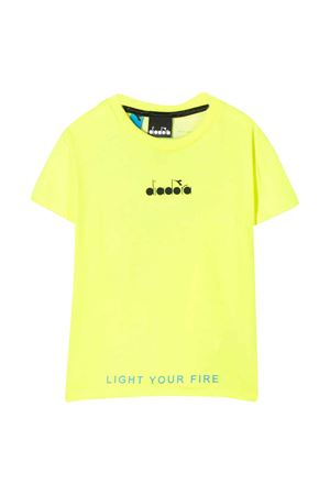 Yellow fluo t-shirt with frontal logo Diadora junior DIADORA JUNIOR | 7 | 022296023