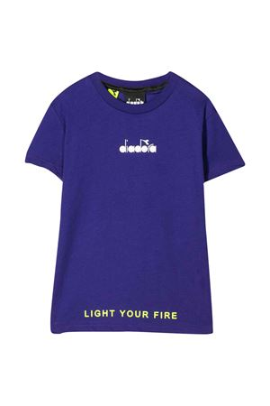 Violet teen t-shirt with frontal logo Diadora junior DIADORA JUNIOR | 7 | 022296070T