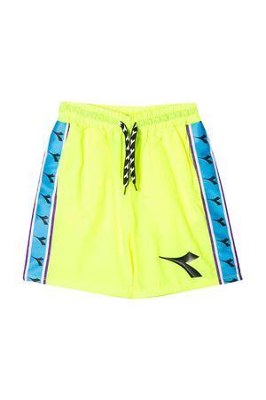 Shorts giallo fluo teen con banda laterale Diadora junior DIADORA JUNIOR | 30 | 022297023T